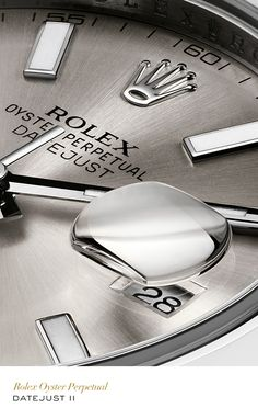 Rolex Datejust II 41 mm in 904L steel with a smooth bezel, silver dial and Oyster bracelet. #Tennis #RolexOfficial