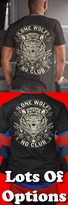 Biker Shirt: Are You A Lone Wolf? Great Motorcycle Gift! Lots Of Sizes & Colors. Like Custom Motorcycles, Baggers, Choppers, Harley Davidson Bikes or the Biker Life? Strict Limit Of 5 Shirts! Treat Yourself & Click Now! https://teespring.com/RM93-425
