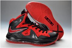 Lebron 10 Shoes P.S Elite Red Black