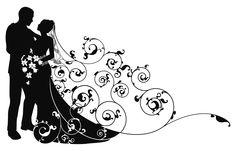 Beautiful black and white design for a wedding invite