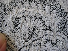 Detail of French Argentella. Note especially the 'snowflake' ground.