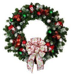 Evergreen Snowman Wreath designed by Karen B., A.C. Moore Erie, PA #christmas #wreath