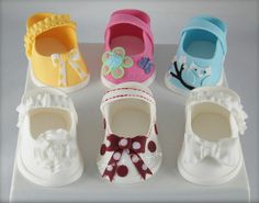 Baby Shower Shoes Cake Toppers