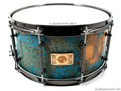 azul copper patina snare drum... awesome!