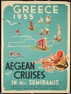 scandinavian design + vintage posters + greece - Google Search