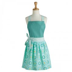 Bake in style with the Eggshell Blue Floral Dot Apron, available at the Food Network Store.