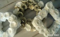 SALVAGED WHIMSY: Tutorial: Rolled Paper Flower Wreath
