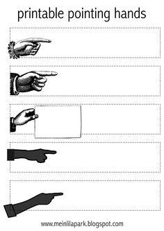 free printable pointing hands - ausdruckbare Etiketten - freebie   MeinLilaPark – digital freebies