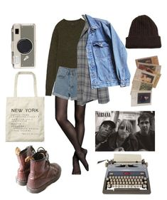 """Grunge"" by alexmazarakh on Polyvore featuring Express, PèPè, Madewell, Levi's, Monet, NOVICA, Scotch & Soda and Kate Spade"