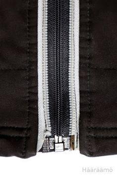 Vetoketjun korjaus nopeasti: Rikkinäisen ketjun viereen uusi. Ei purkamista, ja vanha ketju jää vaatteeseen kauniiksi yksityiskohdaksi.