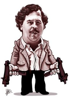 PLABO ESCOBAR GAVIRIA fue un narcotraficante colombiano que tuvo encuentros en la política y la economía Pablo Emilio Escobar, Don Pablo Escobar, Arte Dope, Dope Art, Caricatures, Art Of Noise, Mafia Gangster, Chicano Art, Cartoon Faces