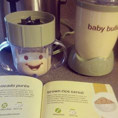 Making my first batch of brown rice cereal for Henry #babybullet #babybullet #homemade #baby #food #babyfood