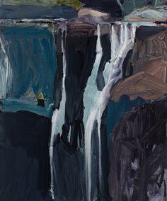"terminusantequem: ""Guy Maestri (Australian, Fitzroy Falls: after the Bacon exhibition, Oil on linen, 122 x "" Australian Painters, Australian Artists, Landscape Art, Landscape Paintings, Landscapes, Landscape Drawings, Contemporary Landscape, Digital Museum, Traditional Paintings"