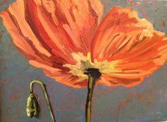Anna Kodesch: Underside Poppy, oil