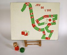 Vintage Game Snakes and Ladders - The game of the goose