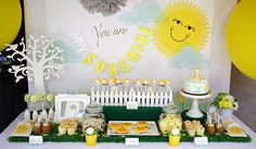 "We Heart Parties: Party Information - ""You Are My Sunshine"" 1st Birthday Party"