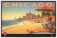 Chicago et l'air du Sud Reproduction d'art
