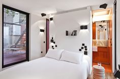 One of the bedrooms in our Urgell apartment, available for short term let in Barcelona. Designed by Lluis Corbella and Stil Interiors. #barcelonapartment