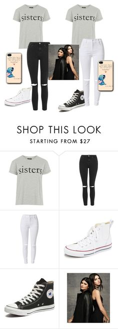 """""""Sisters ❤️"""" by unicornclass on Polyvore featuring Topshop, Converse, women's clothing, women's fashion, women, female, woman, misses and juniors"""