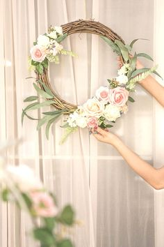 Artificial Flower Arrangements for DIY Floral Wreath Set of 2 - DIY Door Wreath & More - Blumenkranz Artificial Flower Arrangements, Wedding Flower Arrangements, Flower Centerpieces, Artificial Flowers, Floral Arrangements, Wedding Flowers, Diy Wedding, Centerpiece Ideas, Wedding Signs