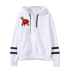 Color Block Drawstring Hoodie With Embroidered Detail e5e457b402