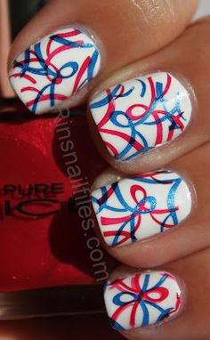 Rins Nail Files: USA Independence day/ July 4th design week......
