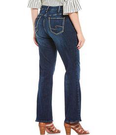 Womens Silver Jeans High Rise Natsuki Dark Cuffed Cropped Plus Size 18 20 NWD