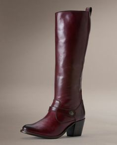 Women's Jackie Button Strap Boot - Bordeaux