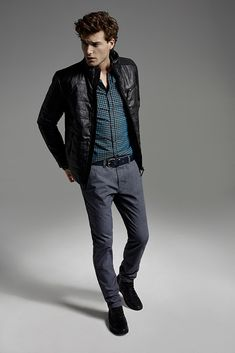 Black jacket and grey pants - perfect outfit for this season #menstyle #perfectoutfit