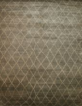 "Kaoud Rugs	 7' 11"" x 10' 2"" Contemporary Geometric	 Hand Knotted	 Rug from India http://www.rugsale.com/rugs/rug/kaoud-rugs-kaoud-modern-rugs/grey/50879/170756"