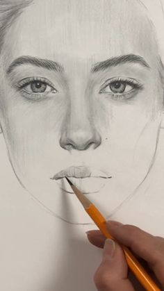 How to draw a face. Face Proportions by Nadia Coolrista - realistic drawings Girl Drawing Sketches, Cool Art Drawings, Pencil Art Drawings, Realistic Drawings, Drawing Faces, Portrait Sketches, How To Draw Sketches, How To Sketch, Face Proportions Drawing