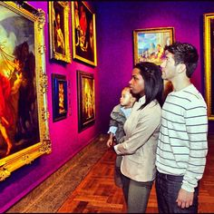 A modern family enjoying the #Columbus #Museum of Art