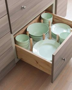 So a kitchen remodel isn't in the cards. No problem. If you can't have the drawers you want, you have to love the drawers you've got! Give your kitchen a smart organization makeover with shiny new organizers (or crafty, repurposed ones). Great tips and ideas for any kitchen!