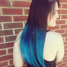 Flawless ocean blue hair tips are a fun way to show your love for summer.