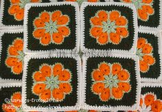 african flower granny square