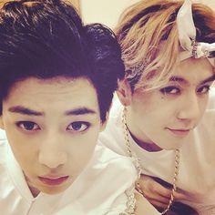 Bambam + Yugyeom || the whole bandanna he's wearing is like <3