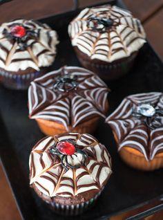 Cupcakes toile d'araign�e Recettes | Ricardo