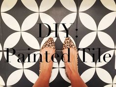 DIY: Painted Tile floor tutorial - The Girl Who Painted Her Tile