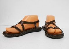 With back strap. Shoes Sandals, Flats, Back Strap, Brown, Fashion, Loafers & Slip Ons, Moda, Fashion Styles, Brown Colors