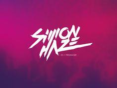 Logo design DJ/PRODUCER typography hand