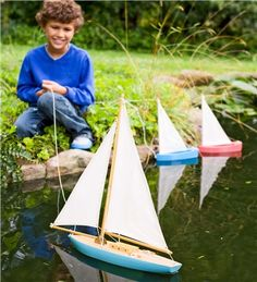 That sailboat is perfect for the pond!