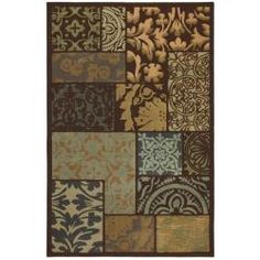 @Overstock - This stylish carpet showcases layered boxes each containing a unique pattern in shades of brown, beige, green, gold and grey. With a generous pile height, this unique area rug will accent any room.   http://www.overstock.com/Home-Garden/Lazio-Brown-Area-Rug-8-x-11/5981305/product.html?CID=214117 $279.99