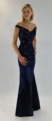 Gorgeous Beaded Long Midnight Blue Evening Dress