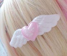 i'm Shizuka (=^・ω・^=) i post random kawaii sfw stuffs!(⌒▽⌒) let's be friends. Angel Aesthetic, Pink Aesthetic, Kawaii Accessories, Hair Accessories, Style Kawaii, Kirara, Star Butterfly, Kawaii Clothes, Kawaii Fashion