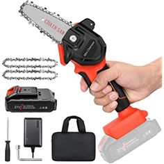 Shopping Cart Mini Chainsaw, Cordless Chainsaw, Battery Chainsaw, Electric Chainsaw, Wood Cutting, Electric Power, Kit, Battery Operated, Outdoor Power Equipment