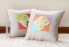 Noodlehead: nursery briar rose pillows