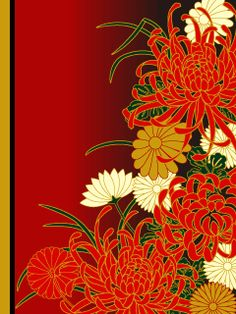 Japanese chrysanthemum pattern