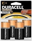 Duracell® - C Batteries (4-Pack), Black