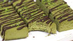 Healthy Matcha Green Tea Fudge Protein Bars