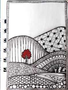 nut: experimenting with Zentangle / Doodle Dibujos Zentangle Art, Zentangle Drawings, Doodles Zentangles, Doodle Drawings, Tangle Doodle, Zen Doodle, Doodle Art, Silkscreen, Doodle Inspiration